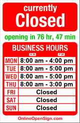 Business hours for 2nd & Vine Dental