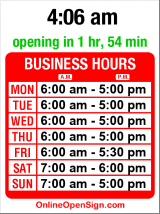 Business hours for Tully's Coffee 2000 1st