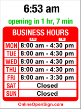 Business hours for Seattle Plastics