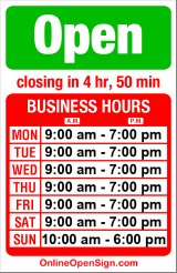 Business hours for Carpet To Go