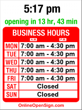 Business hours for OB Williams Company