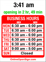 Business hours for Seattle Lighting Outlet
