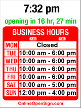 Business hours for Oh Bella