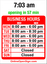 Business hours for Seattle Institute Oriental Med.