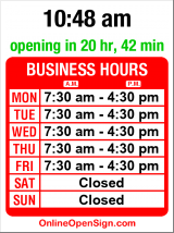 Business hours for Merlino Foods