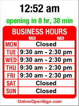 Business hours for Marshall Walton Design Group