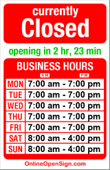 Business hours for Dollar Rent-A-Car