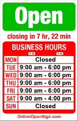 Business hours for Shear Seattle