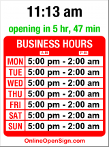 Business hours for Viceroy