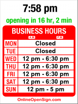 Business hours for Chartreuse International