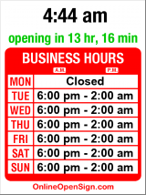 Business hours for Re-bar