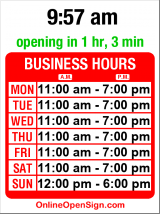Business hours for Arundel Books - MOVED to: