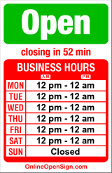 Business hours for Marco Polo