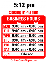 Business hours for M&L Auto Body