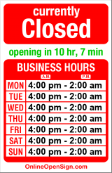Business hours for BluWater Leschi