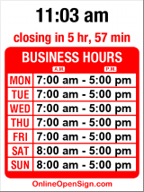 Business hours for Pert's Deli