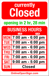 Business hours for Marshall's Cleaners
