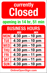 Business hours for Daniel's Broiler