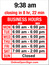 Business hours for Uptown Espresso
