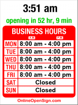 Business hours for Magnum Print Solutions