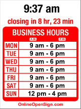 Business hours for Five Corners Hardware