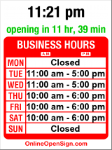 Business hours for Rhinestone Rosie