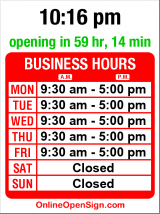 Business hours for Queen Anne Upholstery