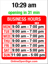 Business hours for Albert Lee Appliance