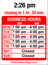 Business hours for Deli/Espresso