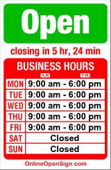 Business hours for Union Bay Garage