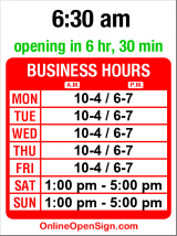 Business hours for Ralph Wallin Furniture