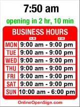 Business hours for InSpa