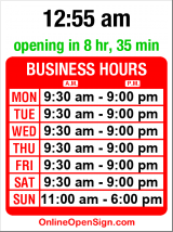 Business hours for Eddie Bauer
