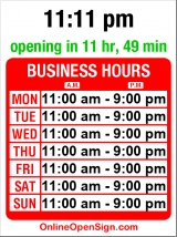 Business hours for World Wrapps