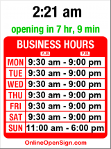 Business hours for RadioShack