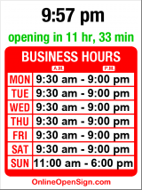 Business hours for Something Silver