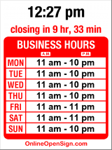 Business hours for Ivar's