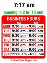 Business hours for Kiehl's Since 1851