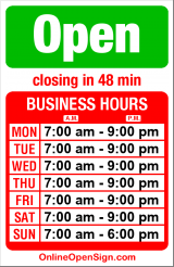 Business hours for Mom's Restaurant