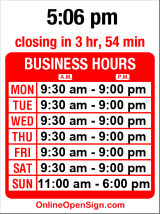 Business hours for Caldwell's