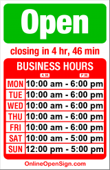 Business hours for Modele's Home Furnishings