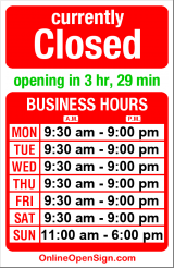 Business hours for Restoration Hardware