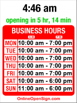 Business hours for Lee's Keys