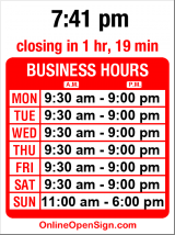 Business hours for J Crew