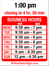 Business hours for Thomasville Home Furnishings