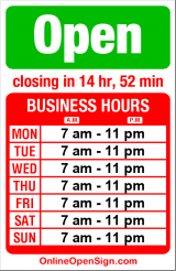 Business hours for Albertsons