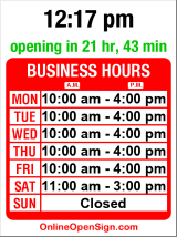 Business hours for Buffalo Deli