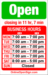 Business hours for Victoria Cleaners