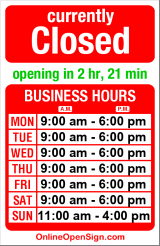 Business hours for Leroux Fine Apparel