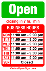 Business hours for Niko's Gyros